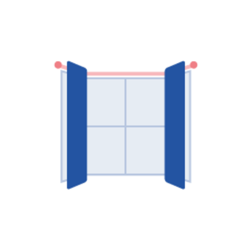 Landing curtains