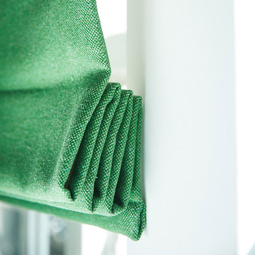 Upcycled silk green blinds curtains ecofabrics stitched.co.uk