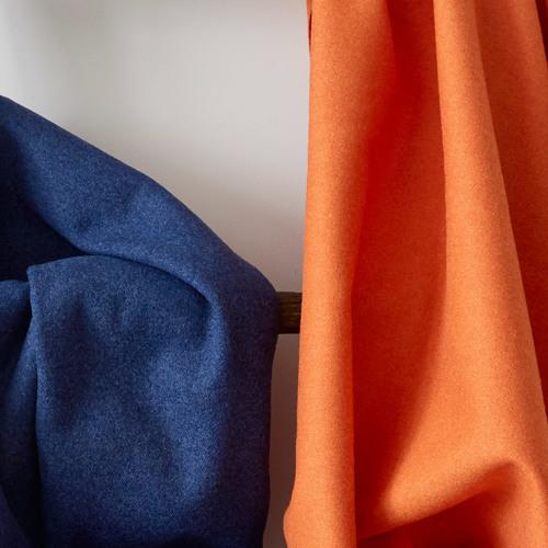 Stitched.co.uk natural fabrics wool synergy similar alike %28orange and dark blue   navy%29 4x5